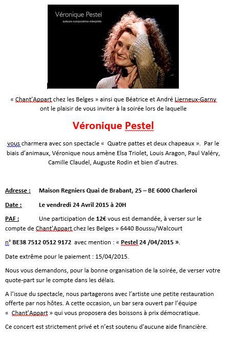 9bf25020e9e966 Véronique Pestel à Charleroi le 24 avril 2015