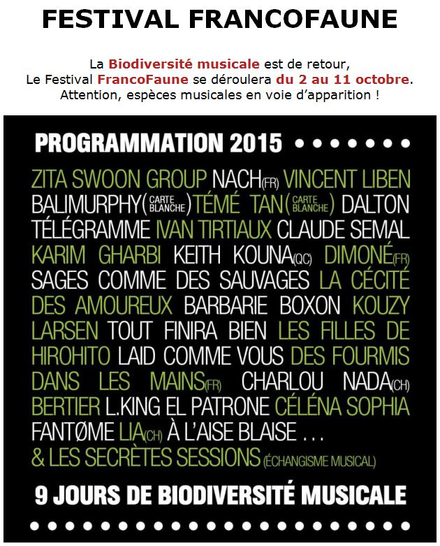 2013 03 14 Festival Francofaune octobre 2015
